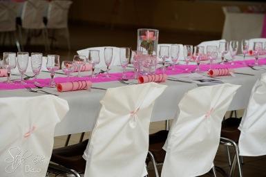 STYLE GB Ghislaine Boullé decoration de salle, décoration housses de chaises, noeuds de chaises