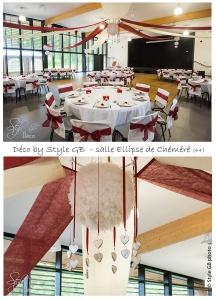 STYLE GB Ghislaine Boullé decoration de salle, décoration tables, suspension plafonds, salle Ellipse chéméré