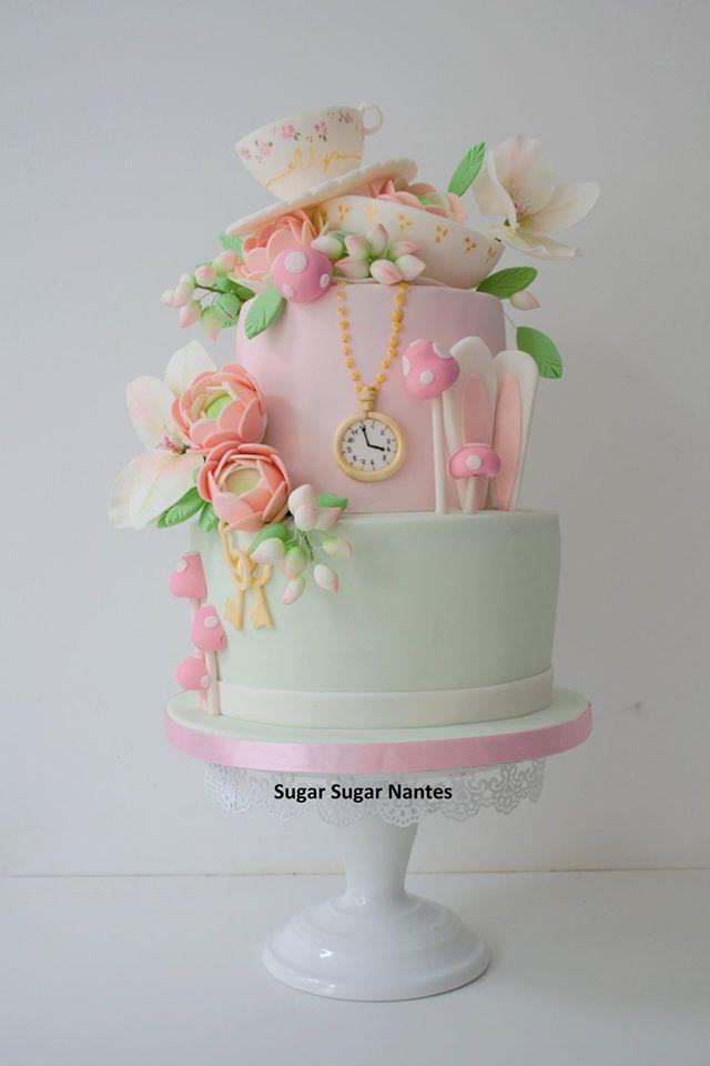 fleurs pate a sucre sugar sugar wedding cake nantes. Black Bedroom Furniture Sets. Home Design Ideas