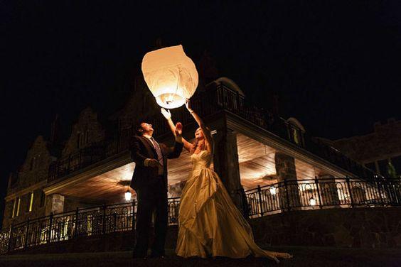 lanternes volantes celestes chateau