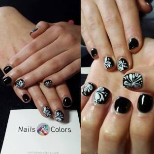 nails & colors bar à ongles itinerant bretagne pays de la loire 44 56 29 35 85 72 22 53 mariage breton animation originale nail art fleurs arabesques
