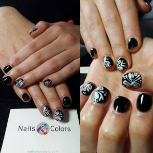nails & colors bar à ongles itinerant bretagne pays de la loire 44 56 29 35 85 72 22 53 mariage breton animation originale nail art fleurs arabesques
