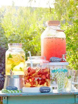 bar à smoothie jarre jus de fruits mariage fraicheur idees orignales tendances mariage