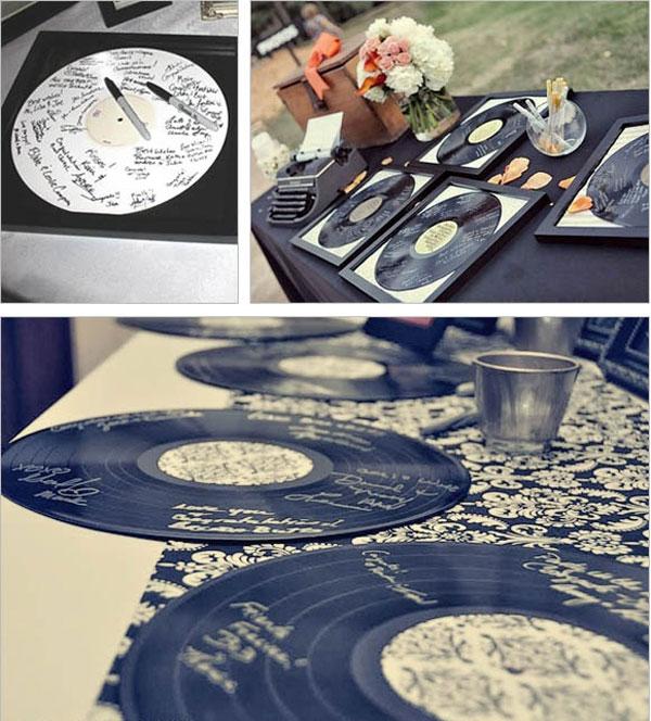 alternative livre d'or mariage cd dédicacé vynile signé par les invités