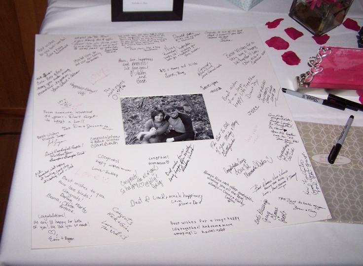 livre d'or alternatif cadre mural signé message personnel des invités