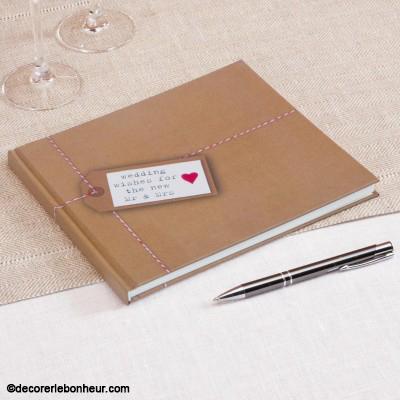 livre d'or classique guest book wishes voeux et messages pour les mariés