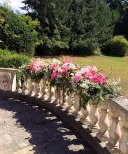 les jolies choses coueron fleuriste nantes pays de la loire bretagne wedding designer rambarde fleurie