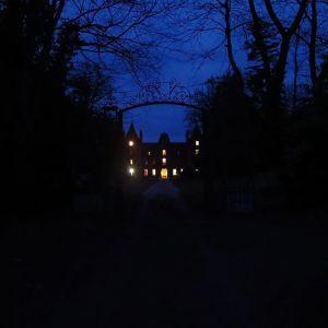 chateau de la basmaignee montenay vue du chateau dans la nuit mariage breton mariage mayennais
