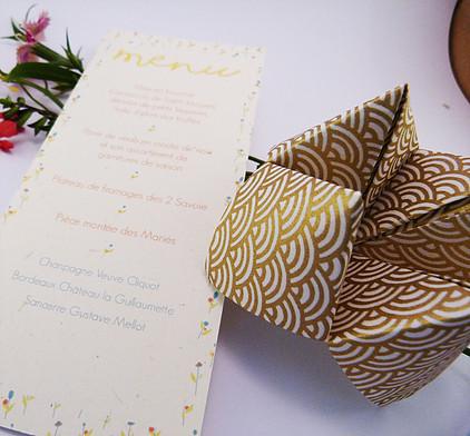 cocotte en carton cocotte papier mariage menu nantes papeterie originale